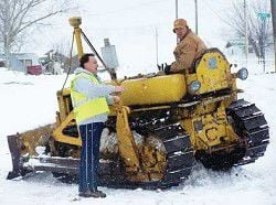 Long Creek digs out