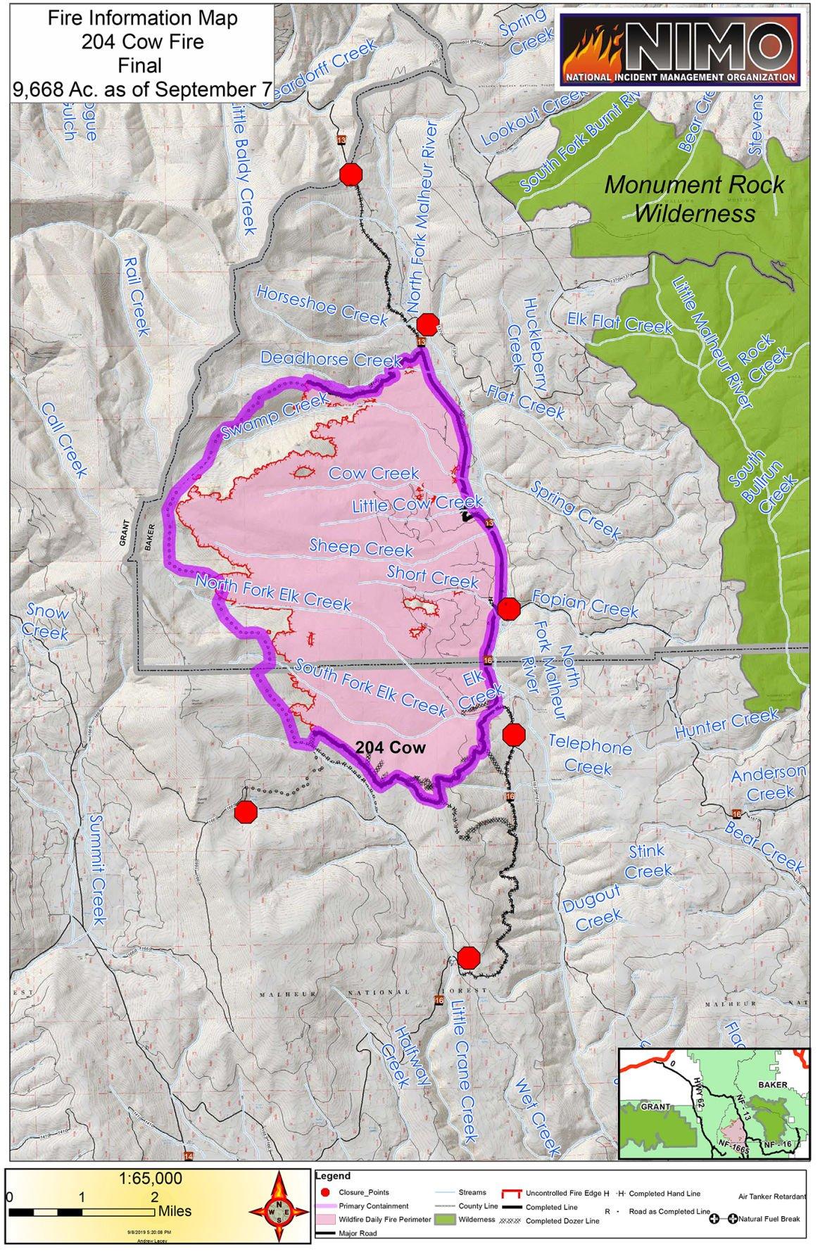 Cow Fire final map