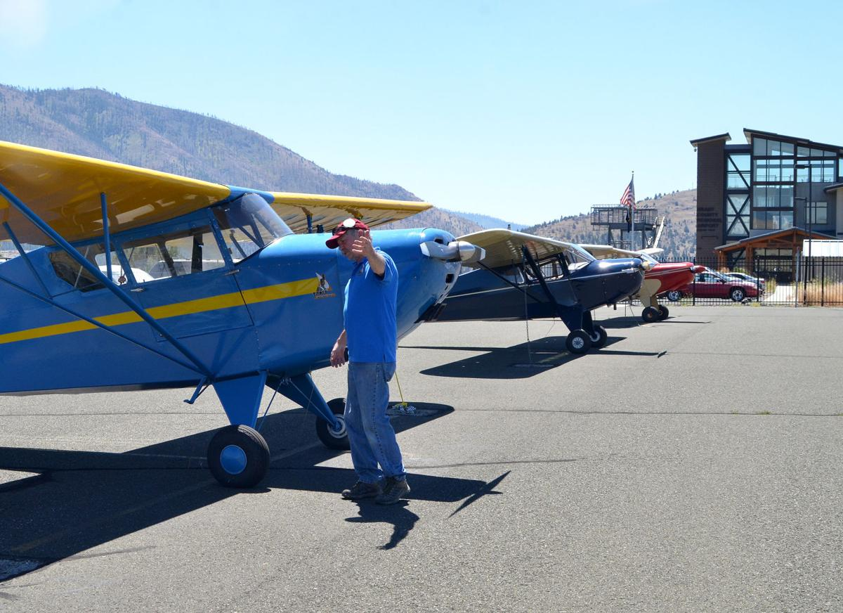 Aircraft club members fly in for John Day tour