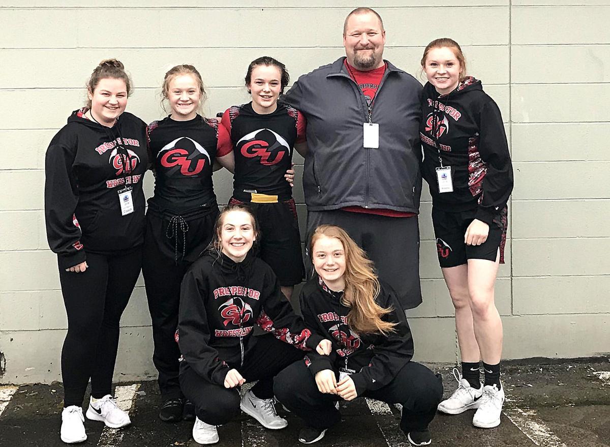 GU girls wrestling team