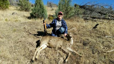 Shooting the Breeze Double slam doe hunt