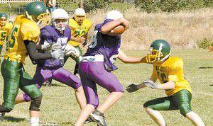 Burns football team challenges MVMS defense