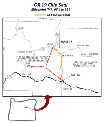 Chip sealing planned on Highway 19