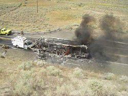 Fire closes Highway 26 near Vale