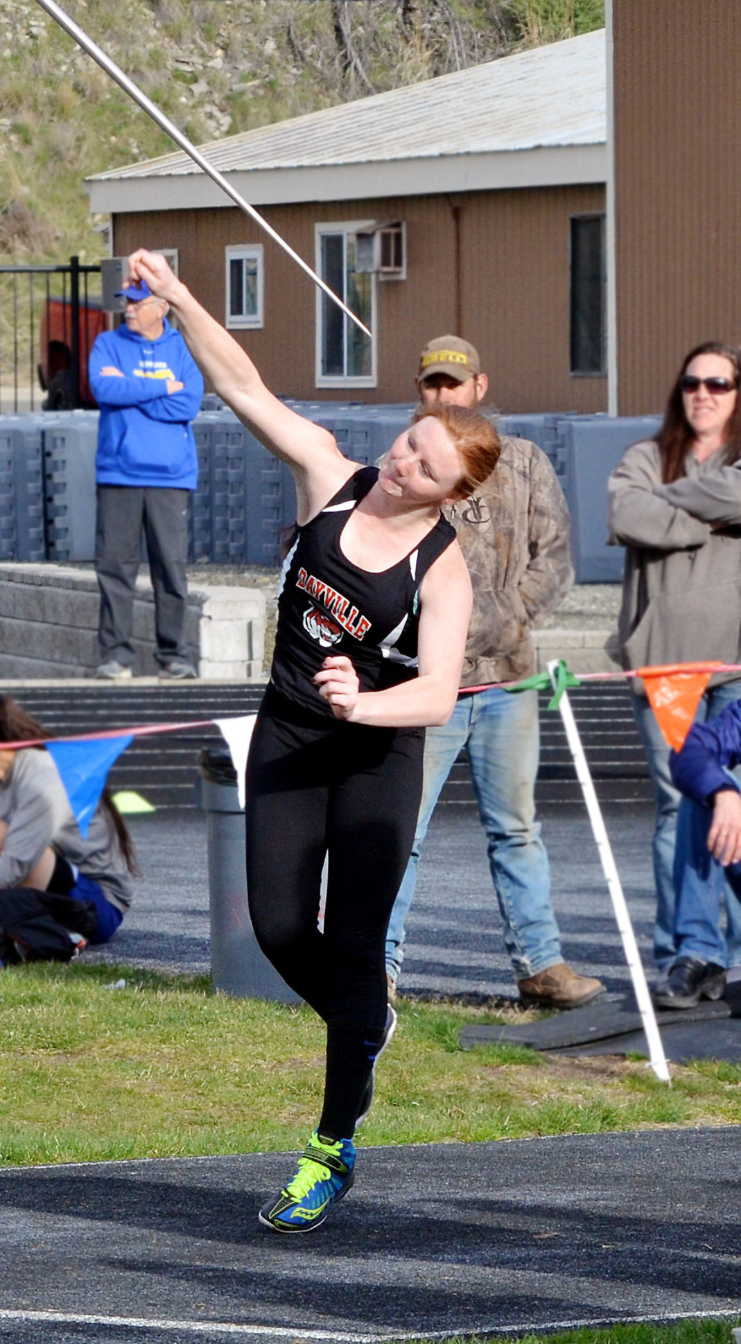 Kristina Humphreys finishes second in javelin for Dayville