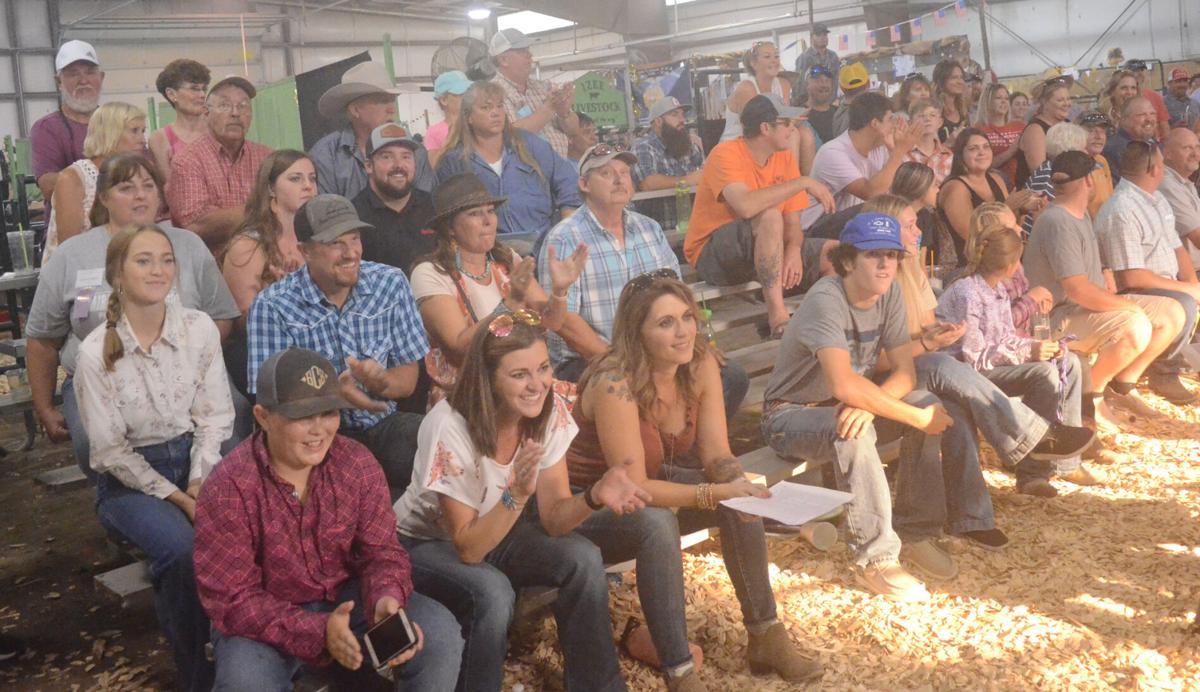 Crowd at the livestock auction