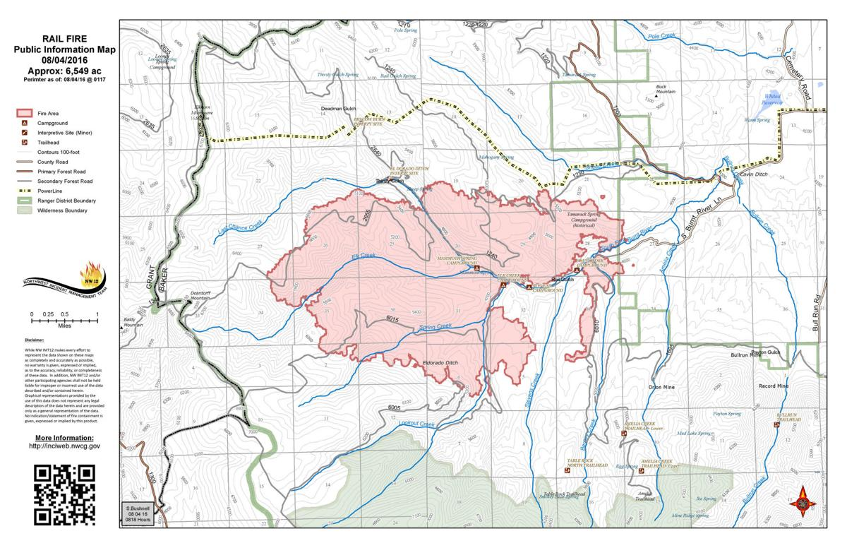 Burnout operations planned on Rail Fire near Unity