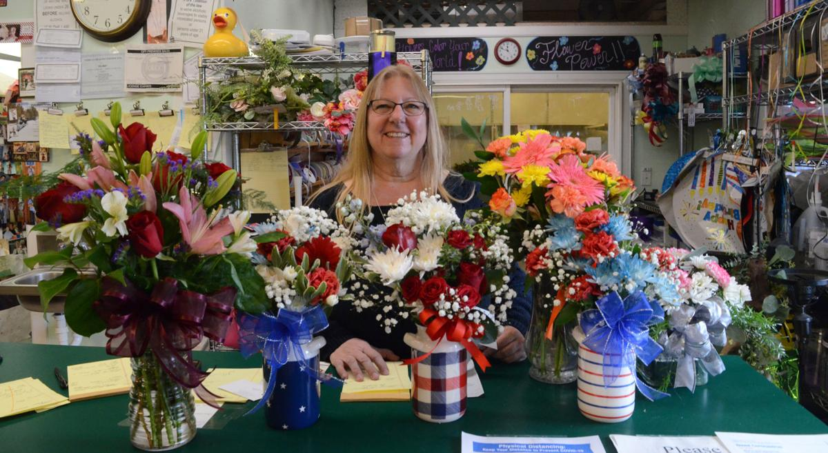 Teri and her flowers