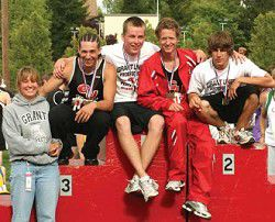 Medals shine for GU track stars