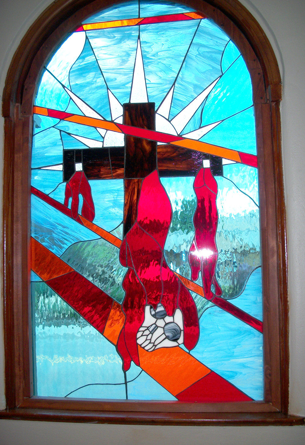 From the pulpit New church window bears three themes