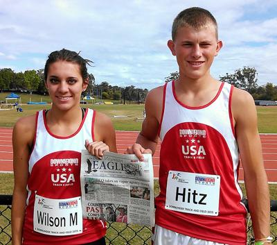 Track event takes two athletes across the globe
