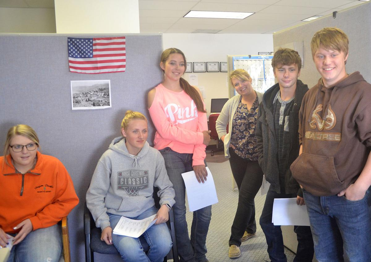 Dayville School English class visits the Eagle office