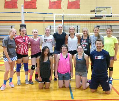 Volleyball athletes get jump on season with camp