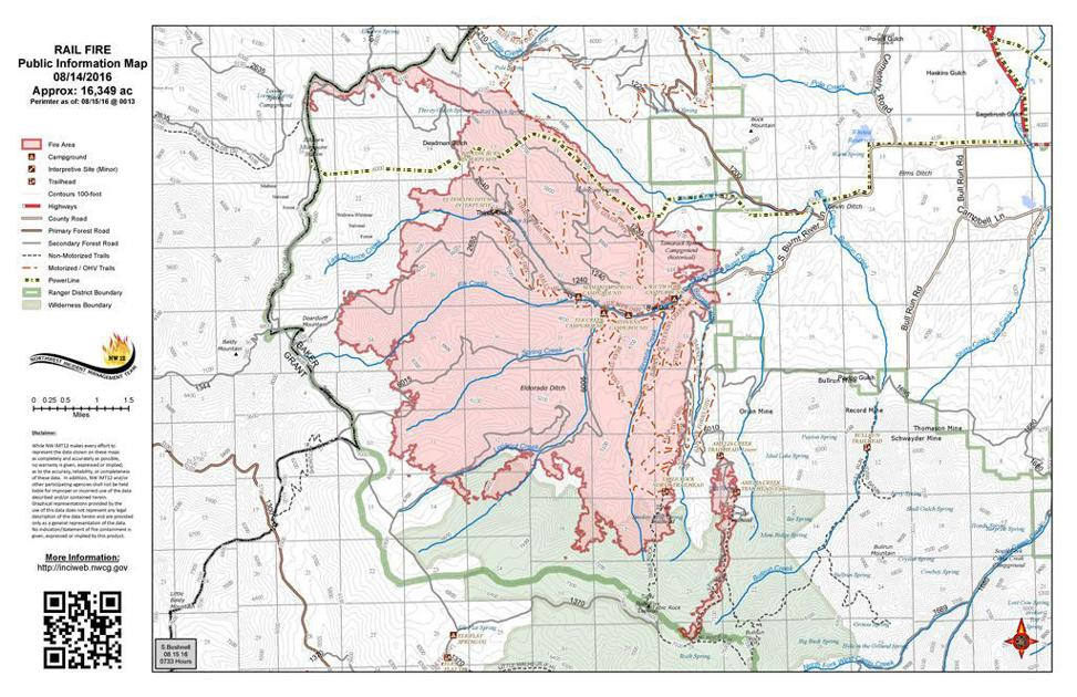 Rail Fire Grows To 16 349 Acres News Bluemountaineagle Com