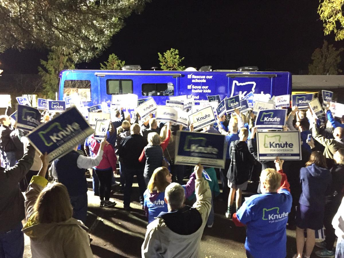 With hours to go, Brown and Buehler hit campaign trail one last time