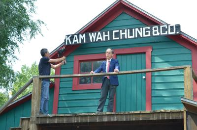 Film crew comes to Kam Wah Chung