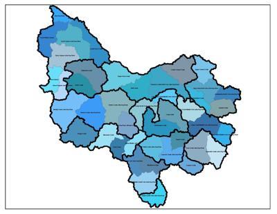 John Day River basin map