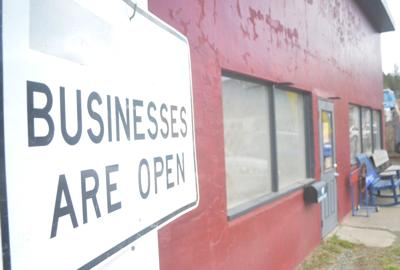 """Dark Horse """"businesses are open sign"""""""