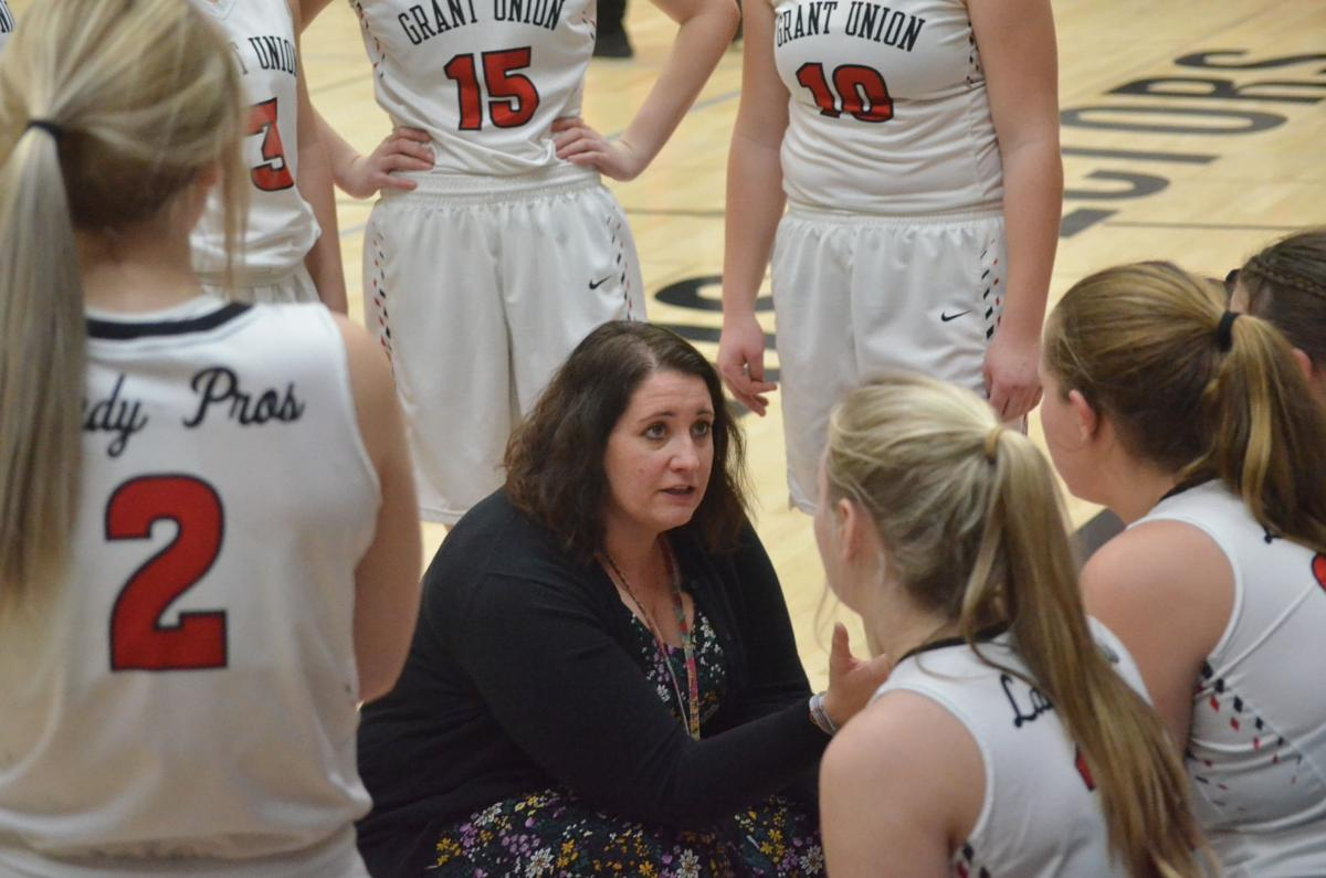 Grant Union girls basketball team evens up league record