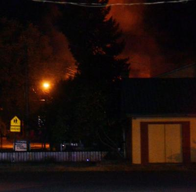 Fire engulfs Grant County ESD building