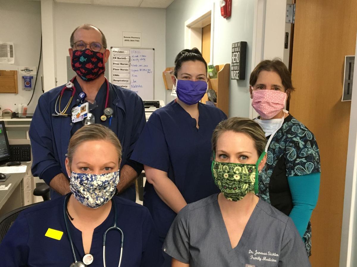 Group wearing masks