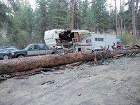Campground snag smashes trailer, leaves hunters shaken