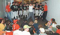 Young players hone hitting skills