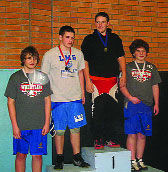Two young matmen head for state meet