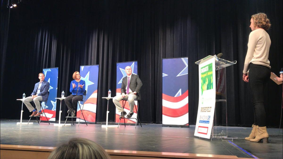 Grant Union student questions gubernatorial candidates at debate