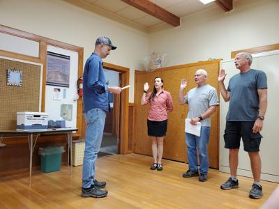 210630 PHOTO Clancy board swearing in BRIDGET - 1