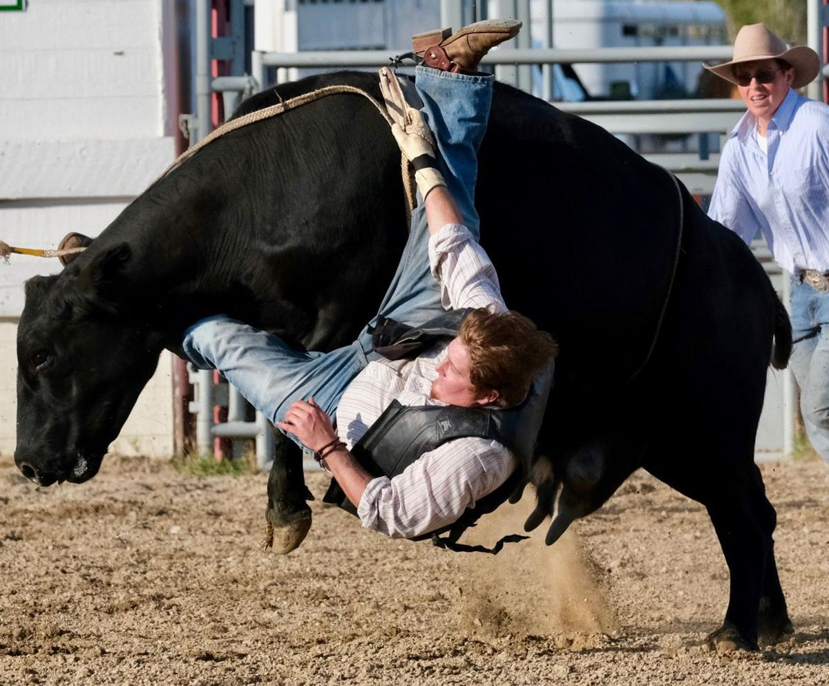 082819 In-county rodeo Forrest Rogne cow rider.jpg