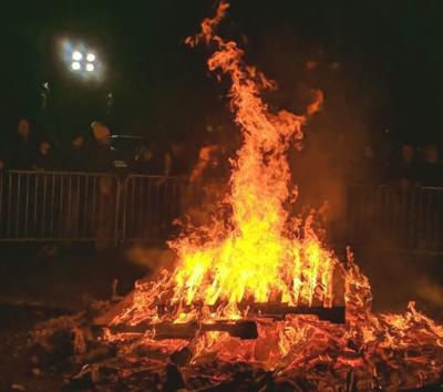 Bonfire at First Night 2019