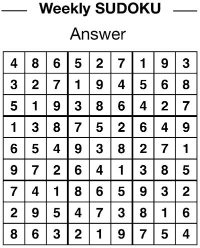 Sudoku answers 3/1