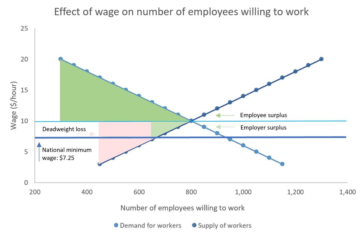 Minimum wage supply and demand