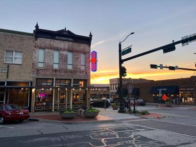 Business sunset