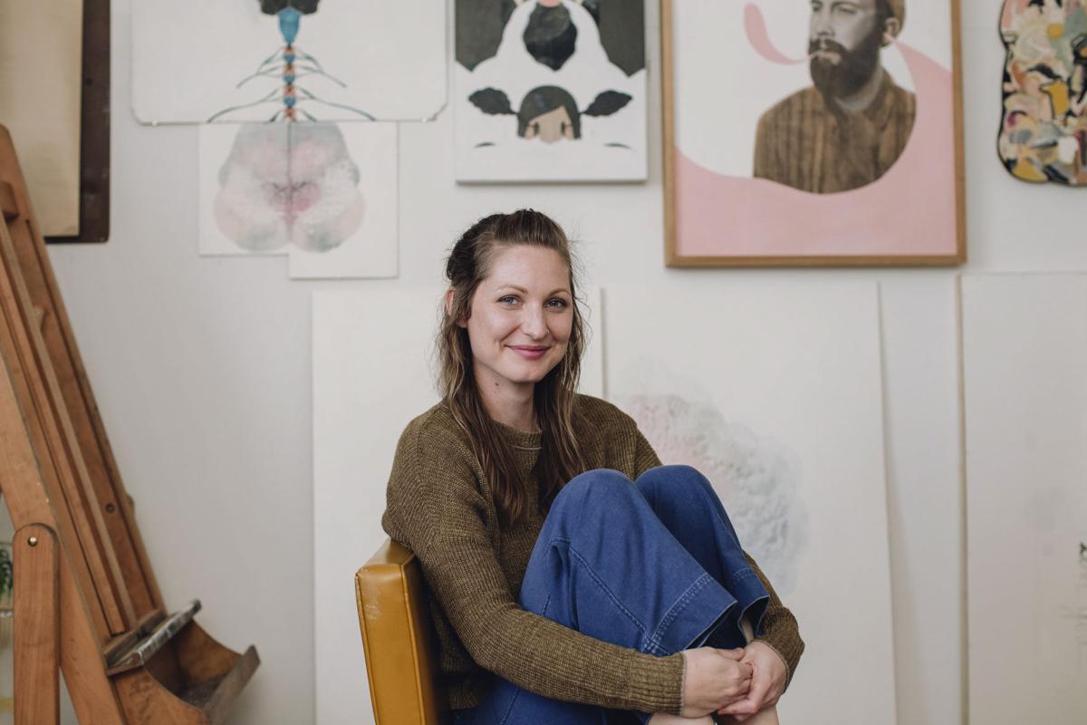 Lynda Bostrom in her studio
