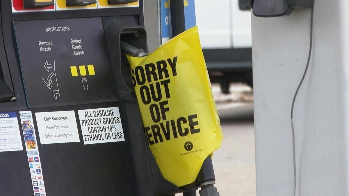 Gas station out of service.