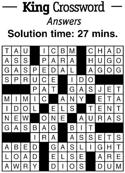 Crossword answers 2/8