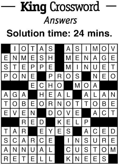 Crossword answers 2/15