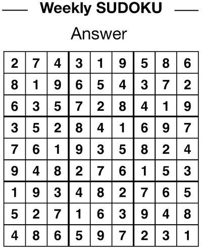 Sudoku answers 2/8