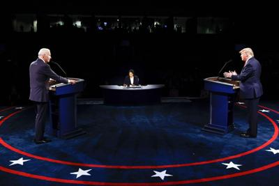 Trump Biden debate photo