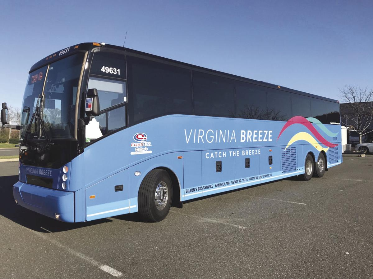 Virginia breeze offers routes from harrisonburg to d c for Time table bus 99