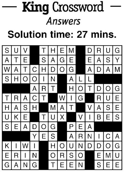 Crossword answers 10/19