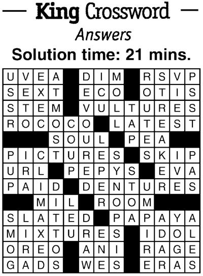 11/2 crossword answers