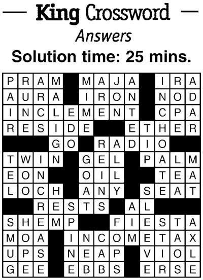 Crossword answers 10/12