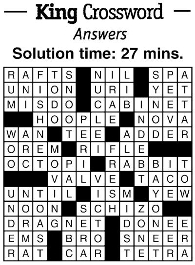 Crossword answers 9/7