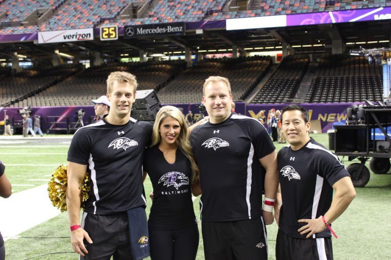 Six Former Jmu Cheerleaders Now On The Ravens Sidelines