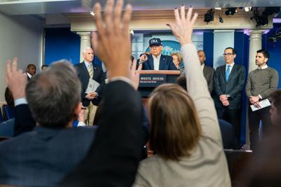 Trump press conference photo