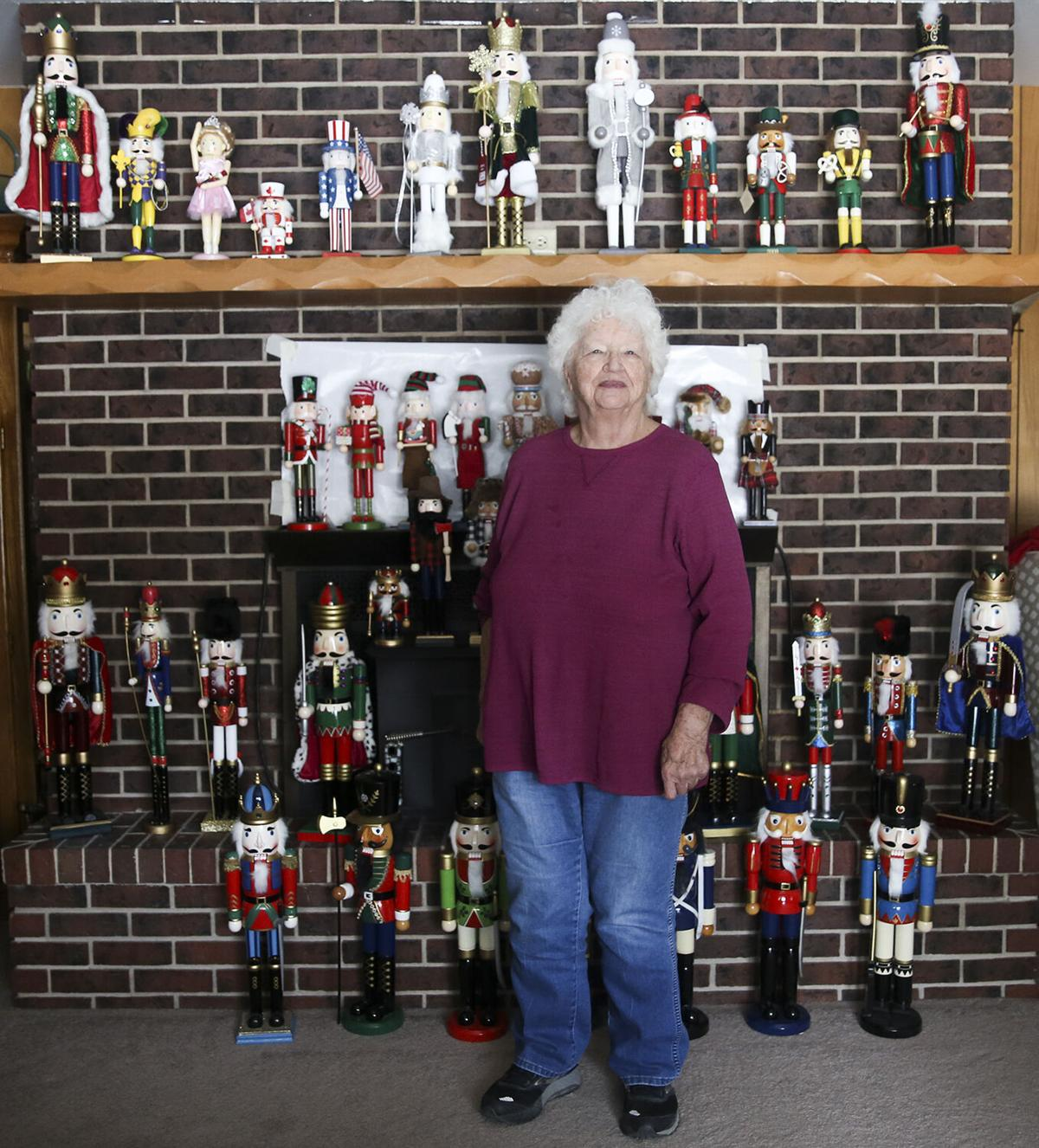 June Taylor, 89 and a half, has about 110 nutcrackers out