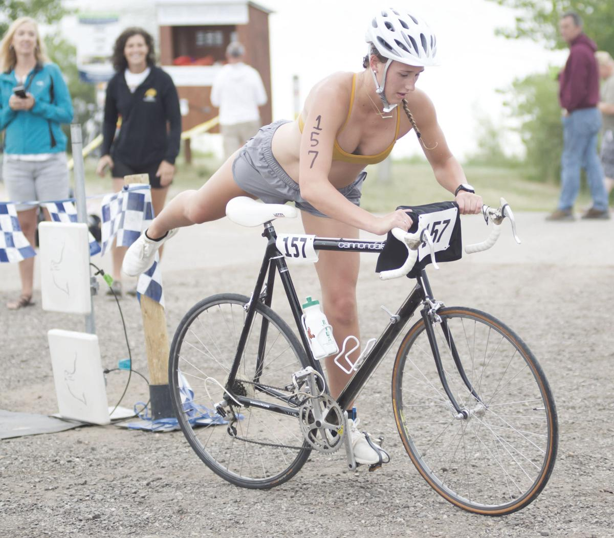Thiele wins triathalon 1